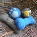 Wool Dog Toys, set of 2 dog toys. G..