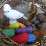 Sensory Wool Toy set of 6. Wool roc..